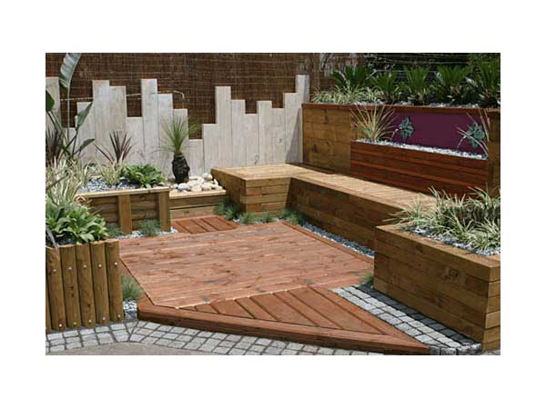 Wood Retaining Wall Design Easy Sunken Patio, Gabion Retaining Wall Out Of  Recycled Rocks
